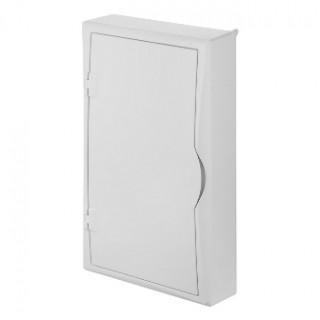 Щит навесной ECO BOX мультимед, TS35+2x МП перф.118x270mm, белая пласт. дверь, белый RAL9003, IP40