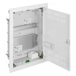 Щит встраив. MSF мультимед, TS35+1x МП перф.118x270mm, мет. дверь, белый RAL9016, IP30