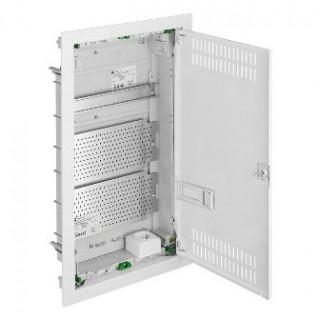 Щит встраив. MSF мультимед, TS35+2x МП перф.118x270mm, мет. дверь, белый RAL9016, IP30