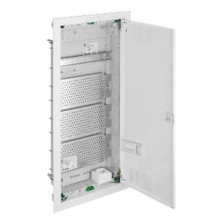 Щит встраив. MSF мультимед, TS35+3x МП перф.118x270mm, мет. дверь, белый RAL9016, IP30