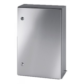 Щит моноблочный 1000х800х300мм (ВхШхГ) с монтажной панелью, нерж. cталь, IP66