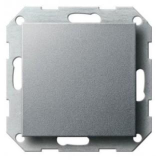 Выключатель одноклавишный ABB basic 55 (алюминий)