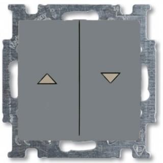 Выключатель для управления рольставнями двойной ABB basic 55 (алюминий)