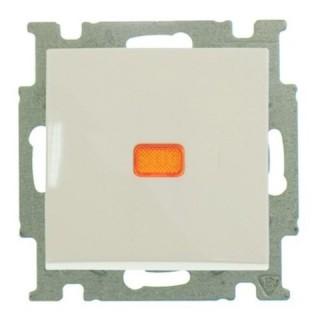 Выключатель одноклавишный с подсветкой ABB Basic 55 (сл.кость)