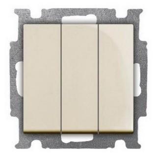 Выключатель трехклавишный ABB Basic 55 (сл.кость)