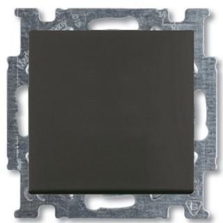 Выключатель одноклавишный ABB Basic 55 (шато-черный)