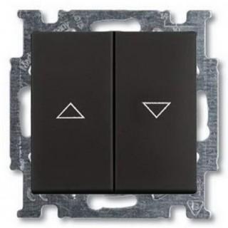 Выключатель для управления рольставнями ABB Basic 55 (шато-черный)