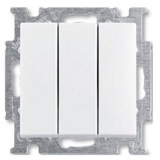 Выключатель трехклавишный ABB basic 55 (шале-белый)