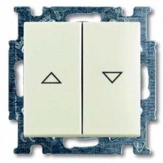 Выключатель для управления рольставнями двойной ABB basic 55 (шале-белый)