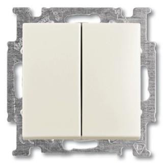 Выключатель двухклавишный ABB basic 55 (шале-белый)