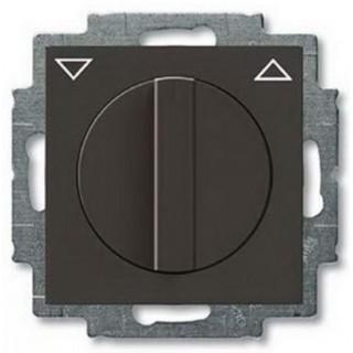 Выключатель поворотный для управления рольставнями без фиксации ABB Basic 55 (шато-черный)