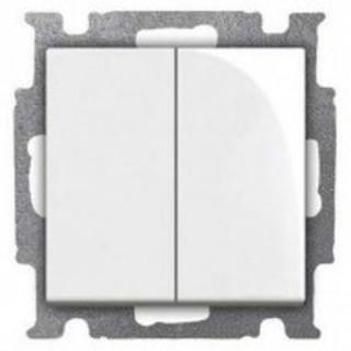 Выключатель двухклавишный ABB basic 55 (альпийский белый)
