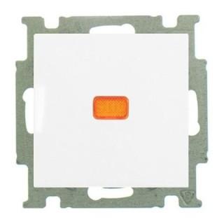 Переключатель на 2 направления с подсветкой ABB basic 55 (альпийский белый)