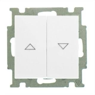 Выключатель для управления рольставнями двойной ABB basic 55 (альпийский белый)