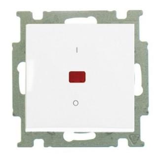 Выключатель двухполюсный с подсветкой ABB basic 55 (альпийский белый)