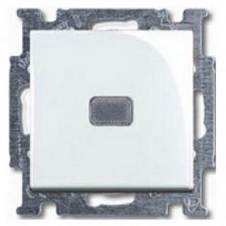 Выключатель с подсветкой ABB basic 55 (альпийский белый)