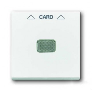 Лицевая панель для выключателя с ключом-карточкой механизм ABB basic 2025U (белый)