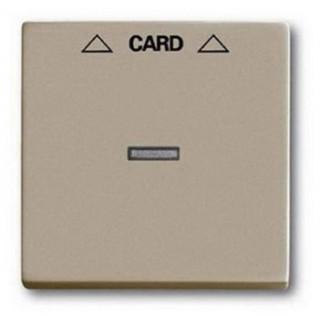 Лицевая панель для выключателя с ключом-карточкой механизм ABB basic 2025U (шампань)