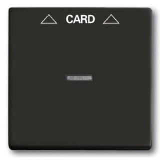 Лицевая панель для выключателя с ключом-карточкой механизм ABB basic 2025U (шато-черный)