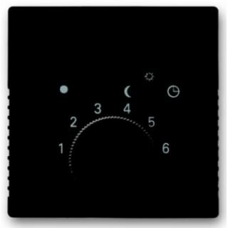 Лицевая панель для термостата 1094U, 1097U ABB basic 2025U (шато-черный)