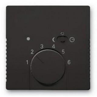 Лицевая панель для термостата ABB basic 1095U, 1096U (шато-черный)