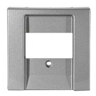Лицевая панель для аккустических и 2хUSB розеток ABB basic (алюминий)