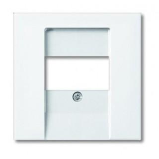Лицевая панель для аккустических и 2хUSB розеток ABB basic (белый)