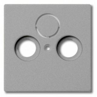 Лицевая панель для телевизионной розетки TV-RD-SAT ABB basic (алюминий)