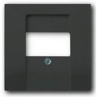 Лицевая панель для аккустических и 2хUSB розеток ABB basic (шато-черный)