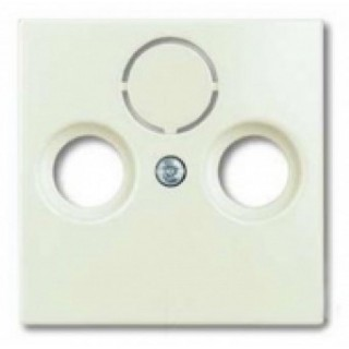 Лицевая панель для телевизионной розетки TV-RD-SAT ABB basic (шале-белый)