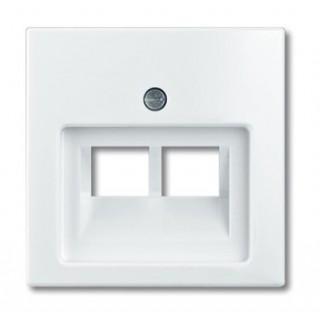 Лицевая панель для двойной информационной розетки ABB basic (белый)