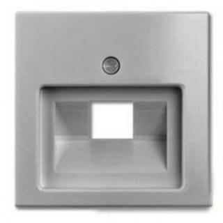 Лицевая панель для одинарной информационной розетки ABB basic (алюминий)