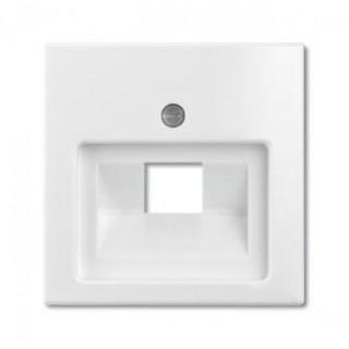 Лицевая панель для одинарной информационной розетки ABB basic (белый)