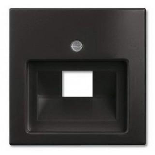 Лицевая панель для одинарной информационной розетки ABB basic (шато-черный)