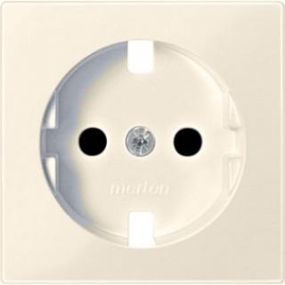 Лицевая панель с защитными шторками для розеток 20 M-500 ABB basic (сл.кость)