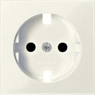 Лицевая панель с защитными шторками для розеток 20 M-500 ABB basic (шале-белый)