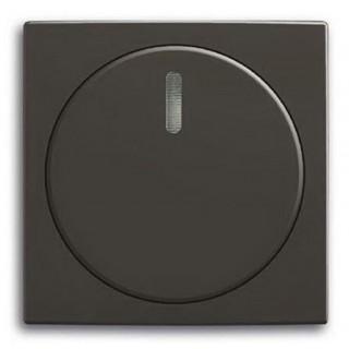 Лицевая панель с поворотной ручкой и подсветокой для светорегуляторов ABB basic (шато-черный)