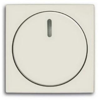 Лицевая панель с поворотной ручкой и подсветокой для светорегуляторов ABB basic (шале-белый)