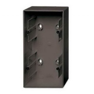 Коробка для накладного монтажа 2 поста ABB Basic шато-черный