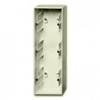 Коробка для накладного монтажа 3 поста ABB Basic шале-белый
