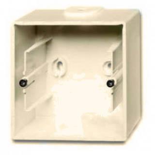 Коробка для накладного монтажа 1 пост ABB Basic слоновая кость