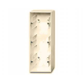Коробка для накладного монтажа 3 поста ABB Basic слоновая кость