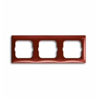Рамка на 3 поста ABB basic 55 (красный)