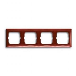 Рамка на 4 поста ABB basic 55 (красный)