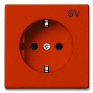 Розетка 2P+E нем. стд. ABB basic 55 (оранжевый)