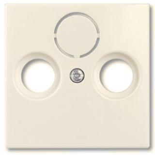 Лицевая панель для телевизионной розетки TV-RD-SAT ABB basic (сл.кость)
