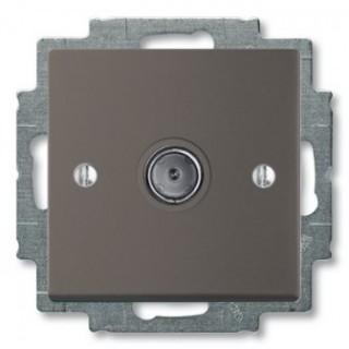 Розетка TV простая ABB basic 2400MHz (шато-черный)