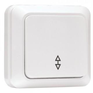 Выключатель 1-клавишный проходной наружной установки EKF Рим 10 А белый