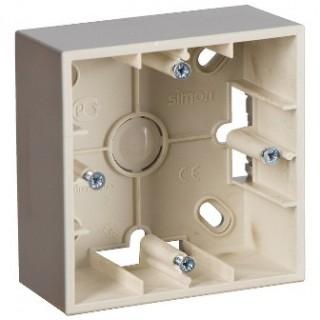 Коробка для наружного монтажа 1 местная Simon 1590751-034 шампань