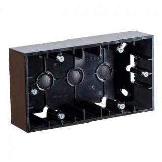 Коробка для наружного монтажа 2 местная Simon 1590752-032 черный
